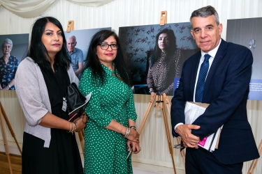 Alzheimer's ASociety; Parliamentary photo exhibition; Thames Pavillion, Houses of Parliament; 9th July 2019. © Pete Jones pete@pjproductions.co.uk