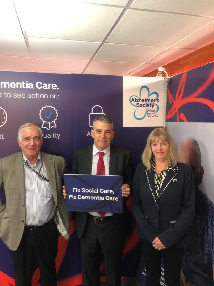 Jeff Smith MP, Andy and Sandra - Alzheimer's Society